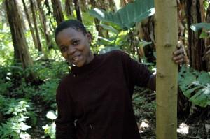 Sesbania s. girl, Kibale, Uganda